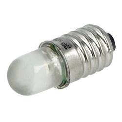 LAMP LED BRANCA E10 12V AC/DC POLAM-ELTA LW-E10-12AC/DC - LW-E10-12AC/DC