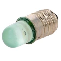 LAMP. LED VERDE E10 230VAC 500mcd POLAM-ELTA LG-E10-230AC - LG-E10-230AC