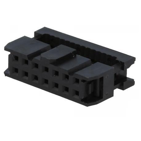 Ficha IDC 14 pin 2x7 fêm. p/ flat-cable 1.27mm NINIGI AWP-14 - AWP-14