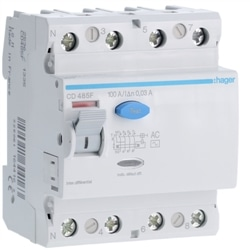 INTER. DIF. 4P 100A 30MA TIPO AC 4M CD485F - CD485F
