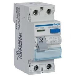 INTER. DIF. 2P 63A 30MA TIPO AC 2M CDC263A - CDC263A