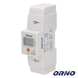 Contador Energia 230V/80A 2 Módulos Calha Din ORNO OR-WE-503 - OR-WE-503