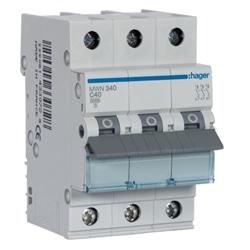 Disjuntor 3P 40A C 3kA 3M MWN340