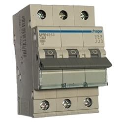 Disjuntor 3P 63A C 3kA 3M MWN363