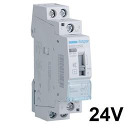 Contactor silencioso manu 25A, 2NA, 24V ERD225S - ERD225S