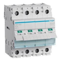 Interruptor Modular 4P 80A SBN480 - SBN480