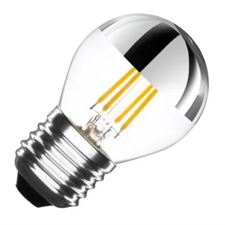 LAMPADA LED 4W P45 E27 350LM CALOTE ESPELHADA SILVER - 038032700