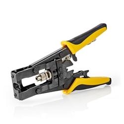 Alicate Cravar de Compressão BNC, RCA, F Nedis CSGG49540YE - CSGG49540YE