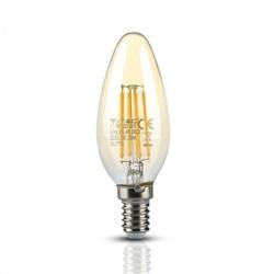 Lâmpada LED 4W Chama Filamento E14 Ambar 2200ºK V-TAC 7113 - 8957113