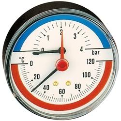 "Termomanóm. Axial D80mm 0-120°C 0-4 BAR 1/2"" Caleffi 503040 - 84500503040"