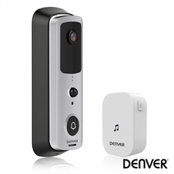 Video Porteiro Wi-Fi Alarme Sensor PIR 720P DENVER SHV-120 - 500-SHV-120