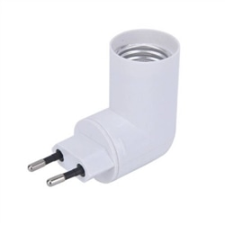 Adaptador de tomada para lâmpadas E27 com botão On/Off - 58/T-PP-E27