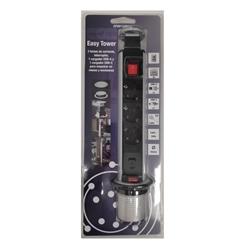 BLOCO BANCADA 3x SCHUKO + 2x CARREG USB A+C C/ INTERRUPTOR - 015.CF00134002