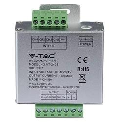 AMPLIFICADOR P/ FITA LED RGB+W 12/24Vdc MÁX. 24A V-TAC 3327 - 8953327