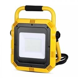 PROJECTOR LED 50W 4000K C/ BASE 3MT CABO+FICHA V-TAC 945 - 8950945