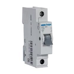 Disjuntor 1P 20A C 3kA 1M MW120 - MW120
