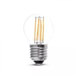 LAMPADA LED G45 VIDRO CL 4W 2700K E27 FIL. 400Lm V-TAC 4306 - 8954306