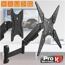 SUPORTE LCD/LED 32/55 C/ 2 BRAÇOS VESA 400/400 22KG PROK - 500FX215