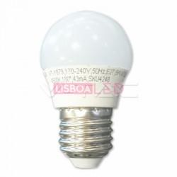 5.5W Lâmpada G45 E27 Branco Frio 180º 470Lm - 8957409