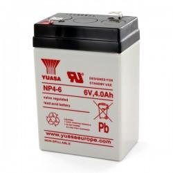 Bateria Chumbo Yuasa, 6V 4Ah NP4-6 - 900NP4-6