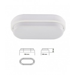 Aplique LED OVAL IP54/8w/40W/4000ºK/560Lm/V-TAC-1312 - 8951312
