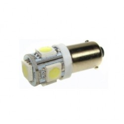 Lâmpada LED T4W/BA9S 5SMD5050 12V 0.8W 6000..6500K 45lm - 306-2946