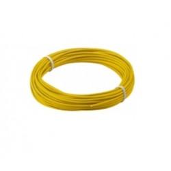 Fio de cobre multifilar Ø1.1mm 1x0.14mm amarelo Rolo 10MT - 016-0146