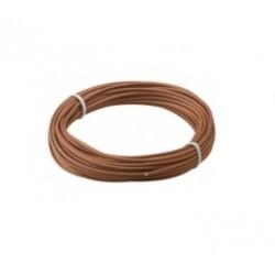Fio de cobre multifilar Ø1.1mm 1x0.14mm CASTANHO Rolo 10MT - 016-0145