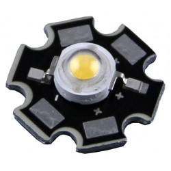 CHIP LED 1W 3,2-3,4V DC 350mA 3000K C/ dissip. - LED01WW