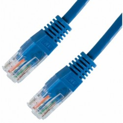 PATCH CABLE RJ45 CAT5e 3,0Mt AZUL - 140205030AZ