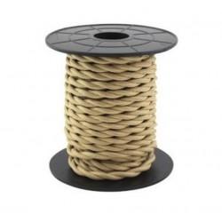 Cabo têxtil trançado 2x0.75mm 10M CASTANH.CLARO GSC 3902981 - 5003902981