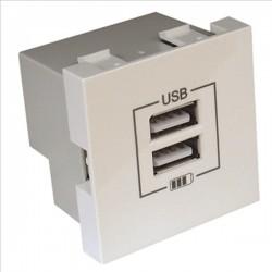 CARREGADOR DUPLO USB TIPO A BRANCO 45439SBR CX1 - 45439SBR