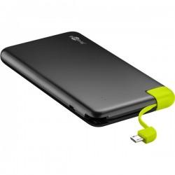 Power Bank Slim 8.0 USB 8000mA - preta - 500-64559