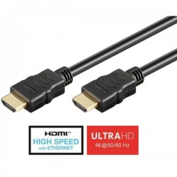 Cabo High Speed HDMI macho/HDMI macho c/Ethernet Preto 20 mt - 500-38523