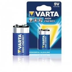 PILHA VARTA HI-ENERGY 6LR61 9V [emb 1] 4922 - VARTA4922-1