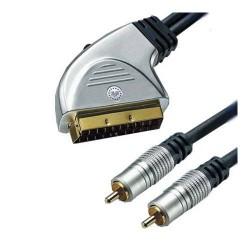 CABO SCART-2 RCA M HD A/V C/INT 1,5MT - 33126200