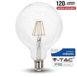 LAMPADA LED 6W G125 2700K FILAMENTO SAMSUNG V-TAC 292
