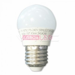 Lamp/G45/Opal/E27/5,5W/40W/470Lm/2700K/V-TAC-7407 - 8957407