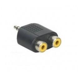 ADAPTADOR JACK MONO MACHO 3,5mm para 2X RCA FEMEA - 33001369