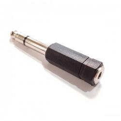 ADAPT.JACK MONO MACHO 6,35mm p/JACK STEREO FEMEA 3,5mm - 33001314