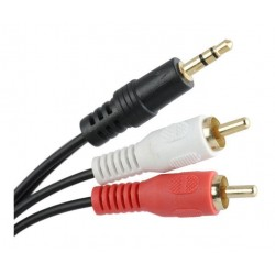 CABO 2RCA - JACK 3,5MM - 1,5MT - 019-4228