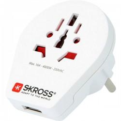 FICHA ADAPTADORA SKROSS 1.500260 WORLD TO EUROPE USB - 500-1.500260