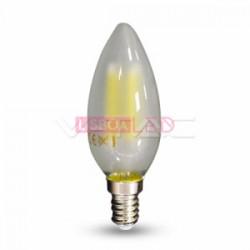 Lâmpada LED E14 4w 40W Luz Quente 400Lm Vela FILAMENTO FOSCA - 8954474