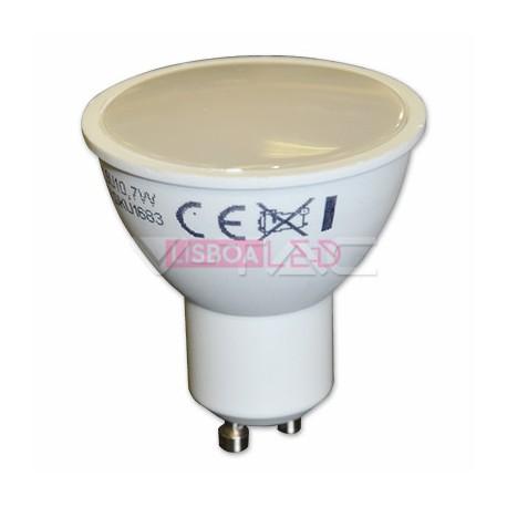 7W Lâmpada Gu10 Plástico c/Difusor Opal 3000K 110º - 8951682