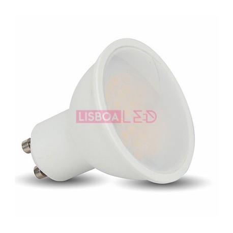 7W Lâmpada Gu10 Plástco c/Difusor Opal Branco Frio 110º 500L - 8951684
