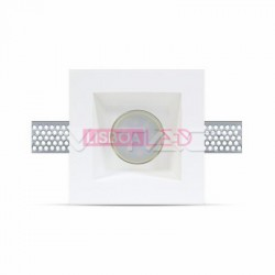 GU10 Fitting Square Gypsum White Deep 120 x 120 mm - 8953649