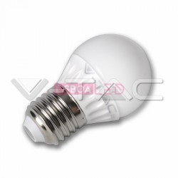 Lâmp./G45/4W/30W/320Lm/6400K/E27/200º/IP20/V-TAC-4207