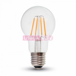 Lamp/A60/Transp/E27/Fil/4W/40W/400Lm/2700K/V-TAC-4259