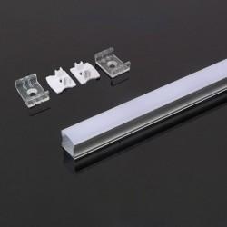 PERFIL ALUMINIO 2000x17.2x15.5mm Dif.Liso OPALINO V-TAC-3354 - 8953354